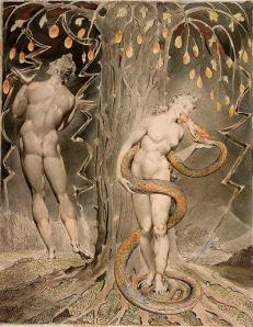 William Blake: The Tempation of Eve.