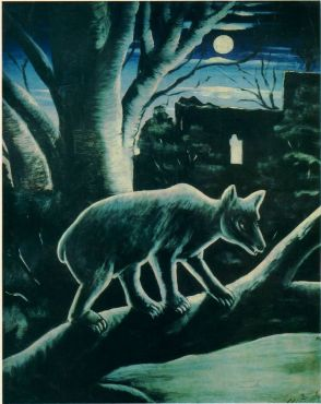 800px-Niko_Pirosmani._A_Fox_in_a_Moon_Night._Oil_on_oilcloth._State_Art_Museum_of_Georgia,_Tbilisi,_Georgia